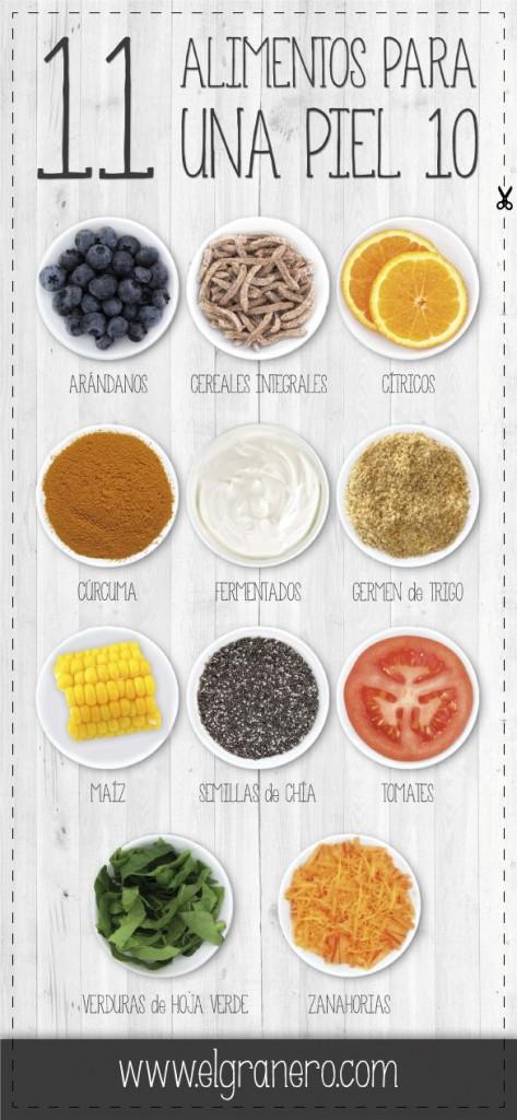 alimentos para una piel 10