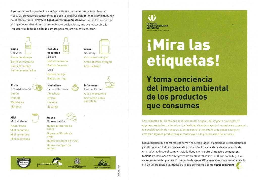 Agrobiodiversidad sostenible - etiquetado
