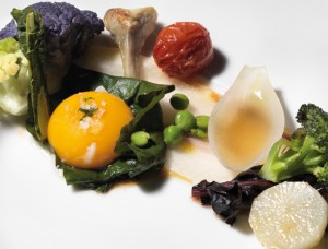 Verduras de martín con tocino ibérico